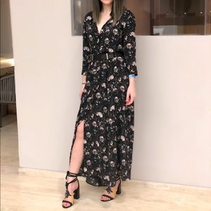 3/4 sleeves long dress